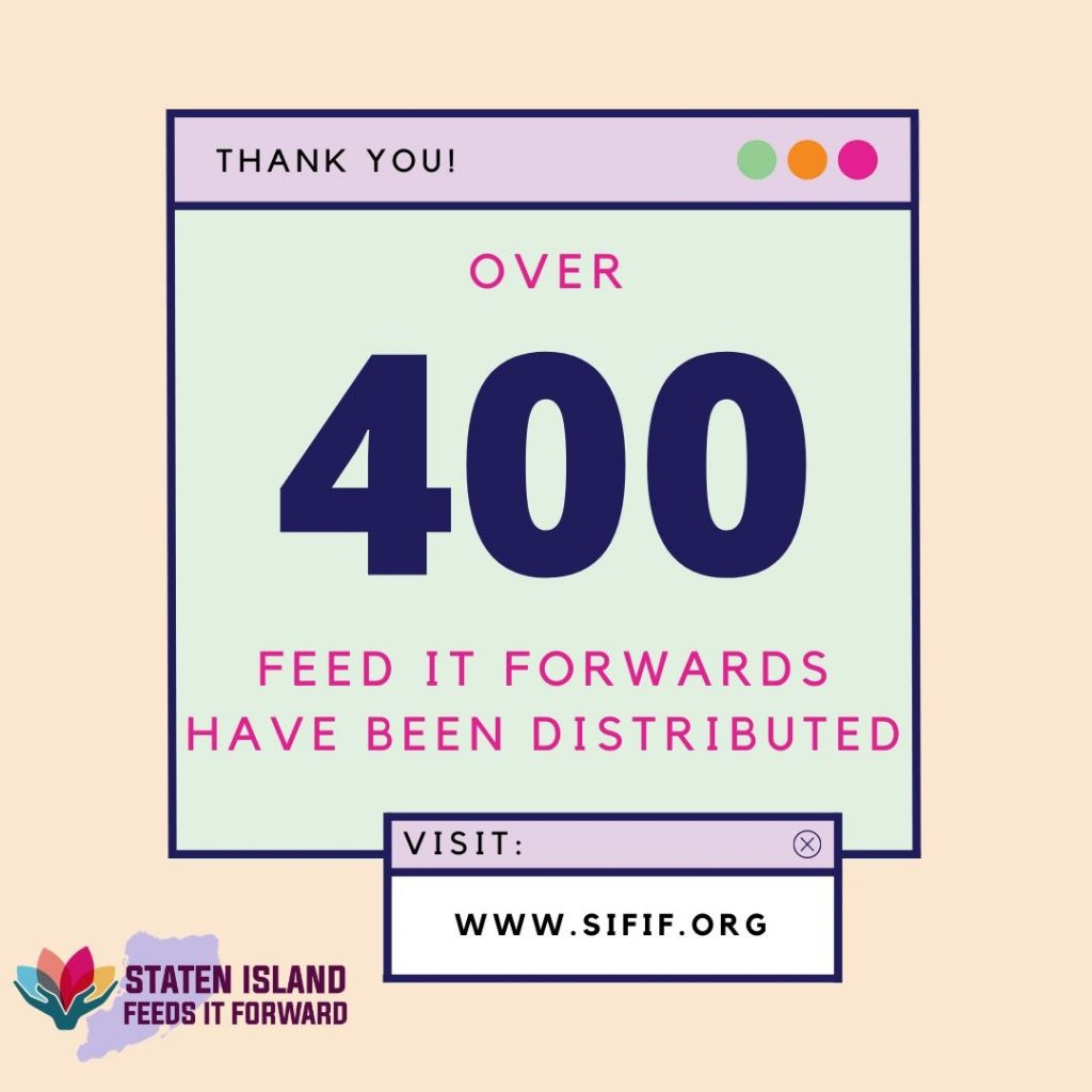 Over 400 Feed It Forwards Have Been Distributed